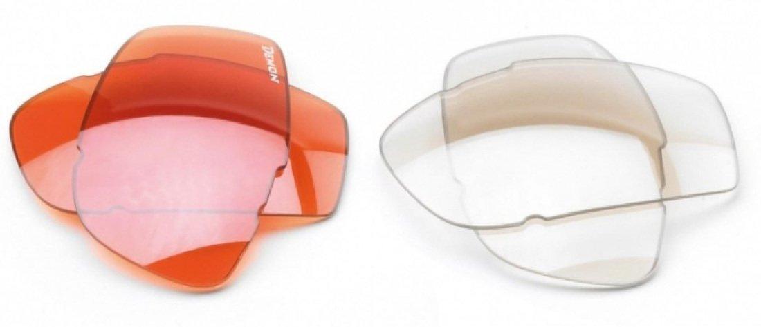 lenti di ricambio arancio e trasparente per occhiali da ciclismo
