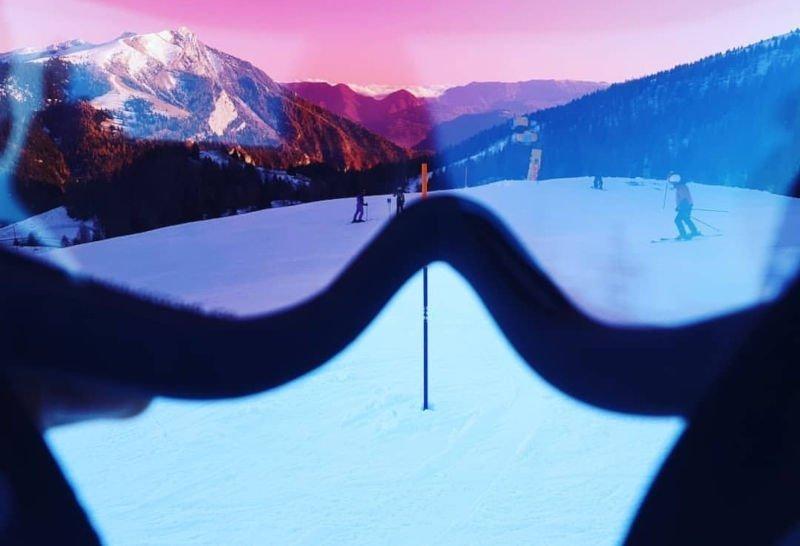 maschera da sci con lente fotocromatica