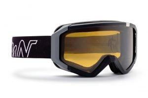 maschera da sci fotocromatica polarizzata con lente gialla
