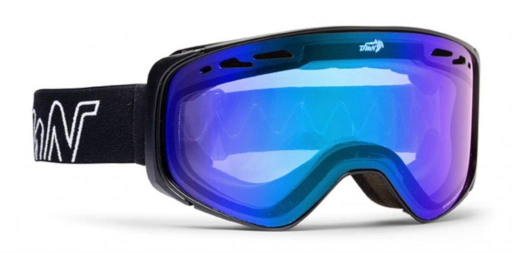 maschera da sci otg lente fotocromatica specchiata blu