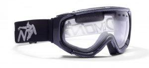 maschera da sci con lente trasparente per notturna nebbia e nevicata
