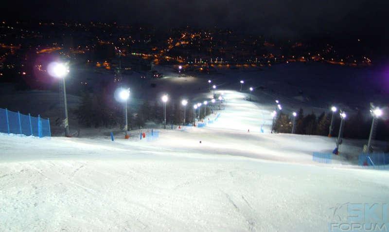 maschera da sci per sciare in notturna