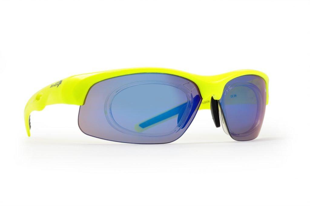 occhiali da vista per tennis con lenti specchiate