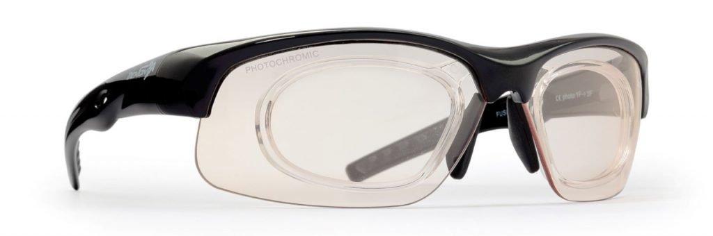 occhiali sportivi con lenti da vista fotocromatiche per running e trail running