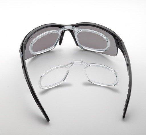 occhiali sportivi da vista con clip ottico per lenti graduate