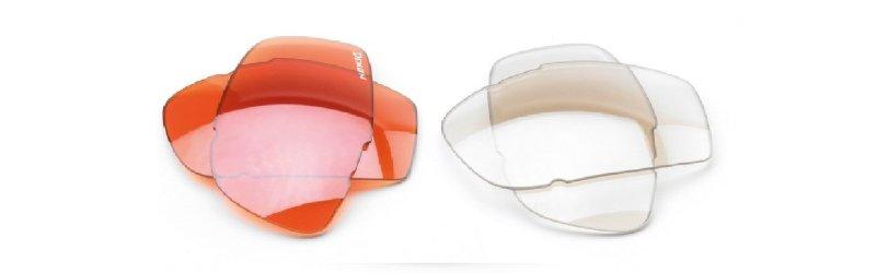 lenti arancio e trasparenti intercambiabili per bici da corsa