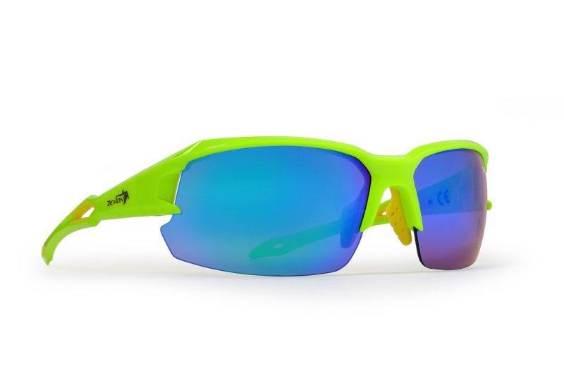 occhiali per bici da corsa giallo fluo