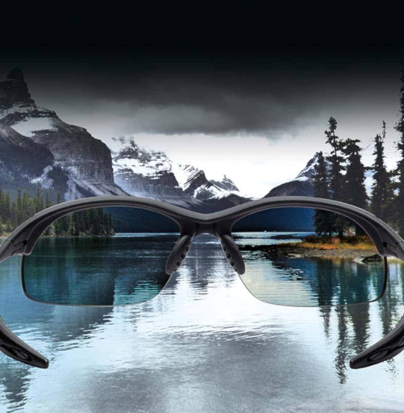 occhiali sportivi con lenti polarizzate per la pratica di tutti gli sport