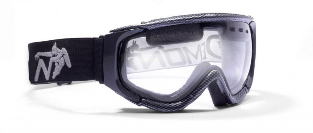 maschera da sci per nebbia lente trasparente