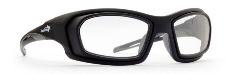 Occhiale da vista con supporto oculare per la pratica dello sci