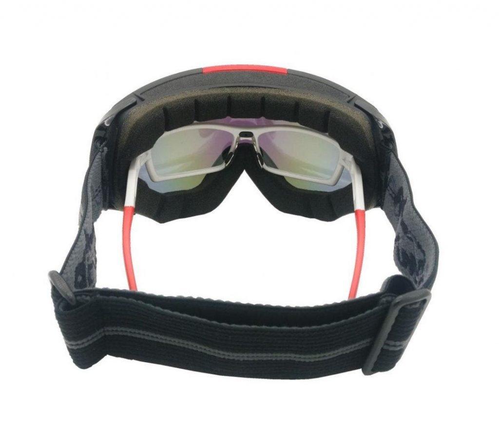 Maschera da sci graduata utilizzabile con occhiali da vista