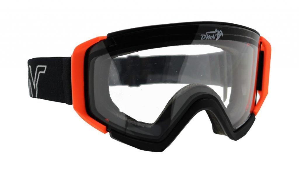 Maschera per scialpinismo con lente trasparente per nevicata forte