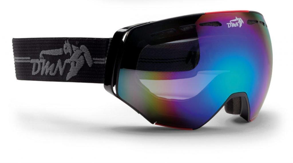 Maschera per scialpinismo per occhiali da vista specchiata