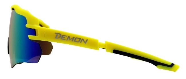 occhiali da ciclismo e mountain bike a mascherina giallo fluo modello IMPERIAL