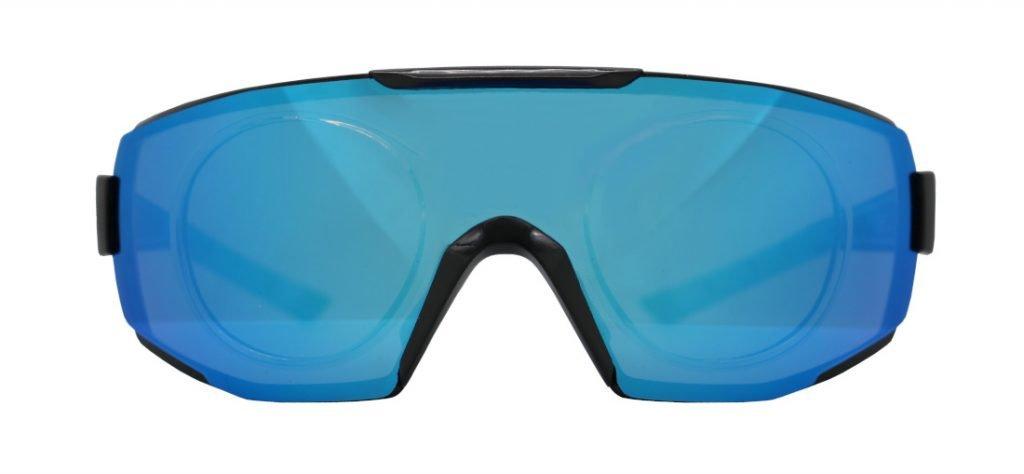 Occhiali da vista sportivi monolente specchiata per running ciclismo e tutti gli sport all'aperto