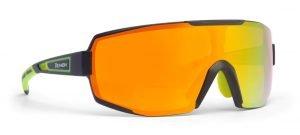 Occhiale da triathlon con lente specchiata arancio modello performance