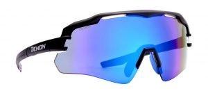 Occhiale per triathlon lente specchiata multilayer modello imperial nero blu
